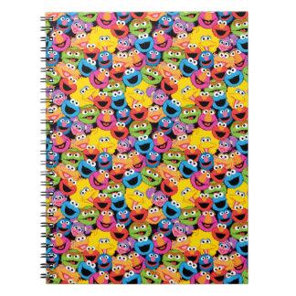 Carnet Motif de visages de caractère de Sesame Street