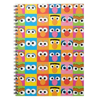 Carnet Motif de yeux de caractère de Sesame Street