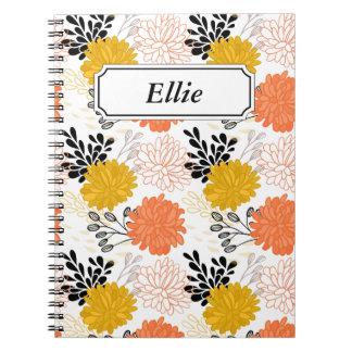 Carnet Motif floral oriental dans le motif vintage de