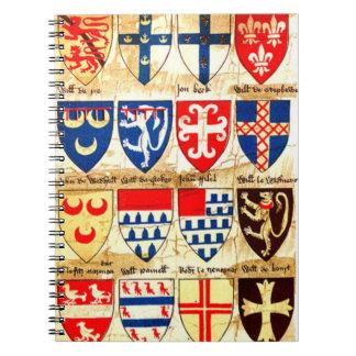 Carnet Motif héraldique décoratif