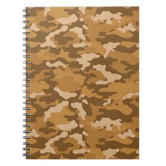 Carnet Motif militaire de camouflage de Camo d'armée brun
