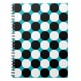 Carnet Motif noir et blanc bleu mignon de vecteur de