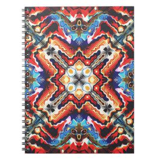 Carnet Motif tribal coloré