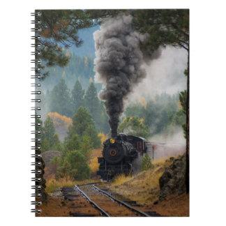 Carnet noir de machine à vapeur