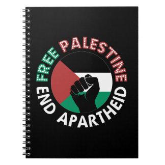Carnet Noir libre de poing de drapeau d'apartheid de fin