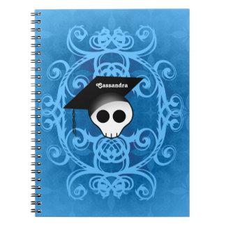 Carnet Obtention du diplôme gothique de crâne