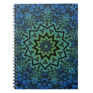 Carnet oriental bleu de mandala