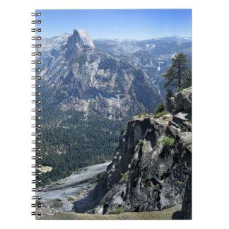 Carnet Panorama de point de glacier - vallée de Yosemite
