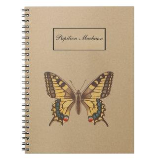 Carnet Papillon jaune de machaon - Papilio Machaon