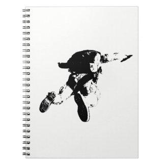 Carnet Parachutisme noir et blanc