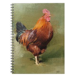 Carnet peint par huile de photo de poulet