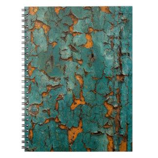 Carnet Peinture turquoise et jaune d'épluchage