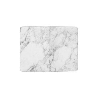 Carnet personnel de marbre de velours de coton