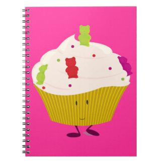Carnet Petit gâteau gommeux de sourire d'ours