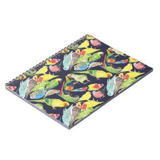 Carnet Petit motif de perroquets