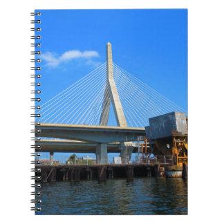 Carnet Photo de pont de Boston sur des cadeaux