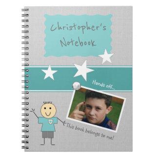 Carnet Photo personnalisée de gris d'enfants