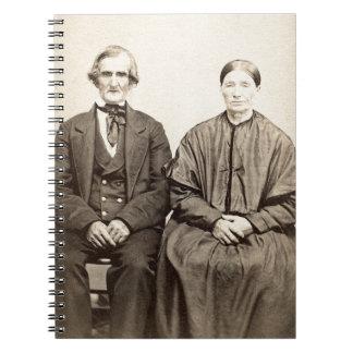 Carnet Photo vintage From 1860 de l'albumen CDV de vieux