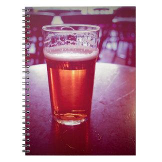 Carnet Pinte de bière britannique de bière anglaise dans
