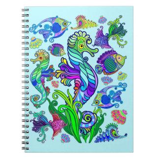 Carnet Poissons et hippocampes exotiques d'espèce marine