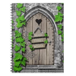Carnet Porte de souhait féerique de vieil imaginaire