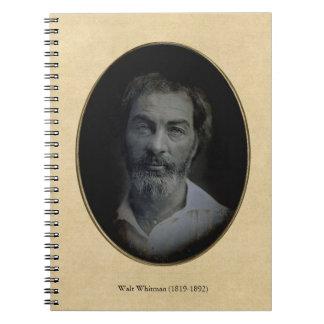 Carnet Portrait de Colorized Walt Whitman