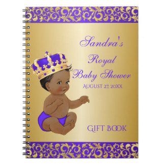 Carnet Prince Purple Gold Gift Guest d'Afro-américain