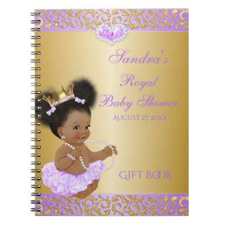 Carnet Princesse Lilac Gold Gift Guest d'Afro-américain