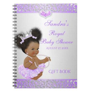 Carnet Princesse Lilac Silver Gift Guest d'Afro-américain