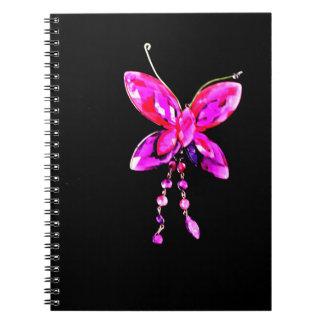 Carnet Prisme rose de papillon