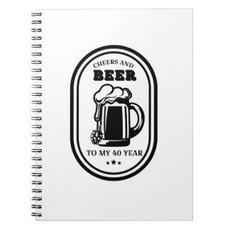 Carnet quarantième Acclamations et bières de cadeau