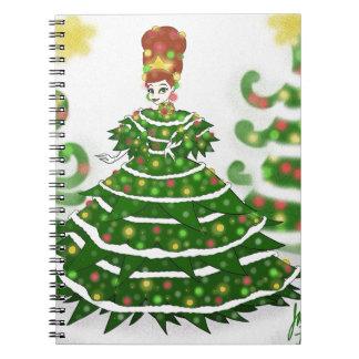 Carnet Reine d'arbre de Noël
