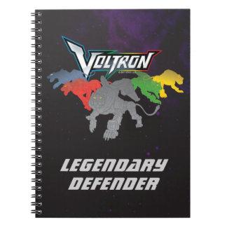 Carnet Remplissage de lions de Voltron |