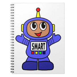 Carnet Robot bleu SMART de bande dessinée mignonne
