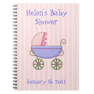 Carnet rose doux de baby shower