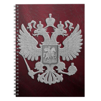 Carnet Rouge russe de drapeau de symbole