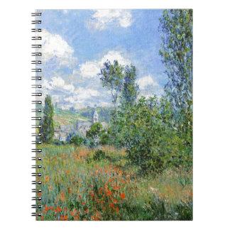 Carnet Ruelle dans les domaines de pavot - Claude Monet