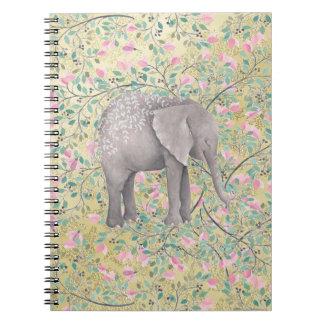 Carnet Scintillement d'or de fleurs d'éléphant