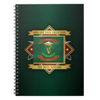 Carnet soixante-neuvième Infanterie volontaire de New