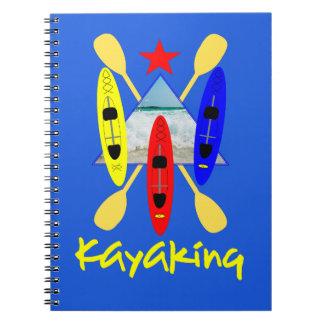 Carnet Sports aquatiques Kayaking - graphique orienté