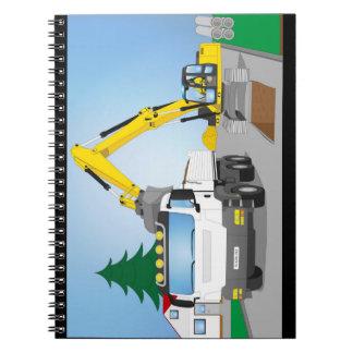Carnet Straßenbaustelle avec le camion blanc et