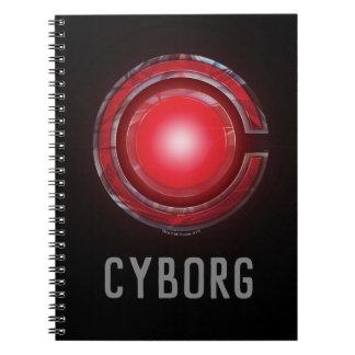 Carnet Symbole rougeoyant de cyborg de la ligue de