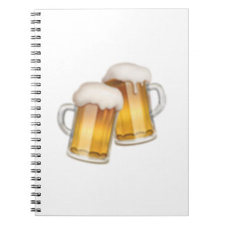 Carnet Tasses de bière tintantes - Emoji