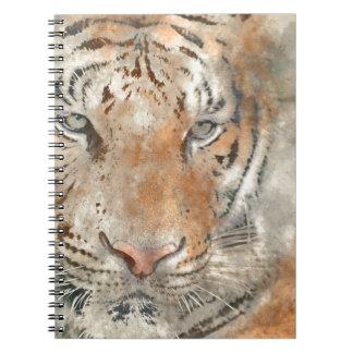 Carnet Tigre étroit dans l'aquarelle
