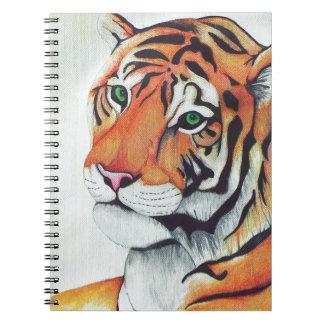 Carnet Tigre (yeux tristes) - art de Kimberly Turnbull