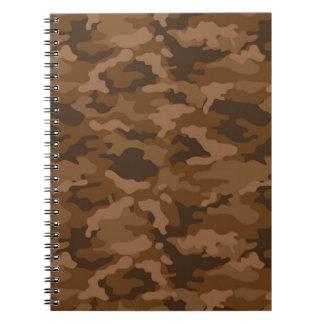 Carnet Tissu militaire de motif de camouflage de Camo