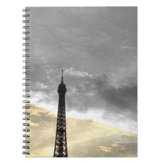 carnet tour Eiffel or et argent