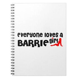 Carnet Tout le monde aime une fille de Barrie