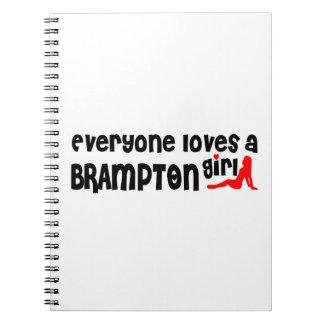 Carnet Tout le monde aime une fille de Brampton