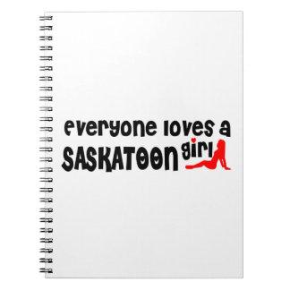 Carnet Tout le monde aime une fille de Saskatoon